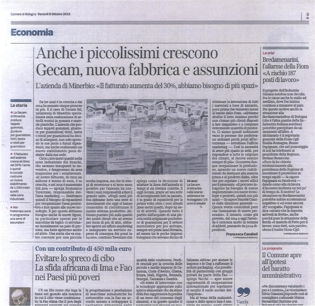 Corriere di Bologna del 09/10