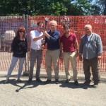 La Direzione Aziendale insieme al Direttore dei Lavori Ing. Collina, al RSSP Dott.ssa Repetto e al Titolare della ditta appaltatrice Gregorio Cristiano